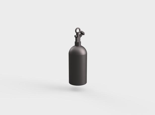 NOS Bottle Keychain(10/15mm) in Polished Bronzed Silver Steel: Small