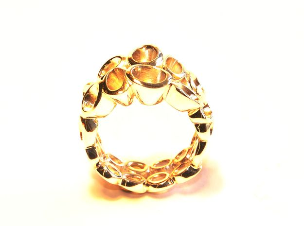 Neitiry Organic  Ring (From $23) in 18k Gold Plated Brass: 6.5 / 52.75