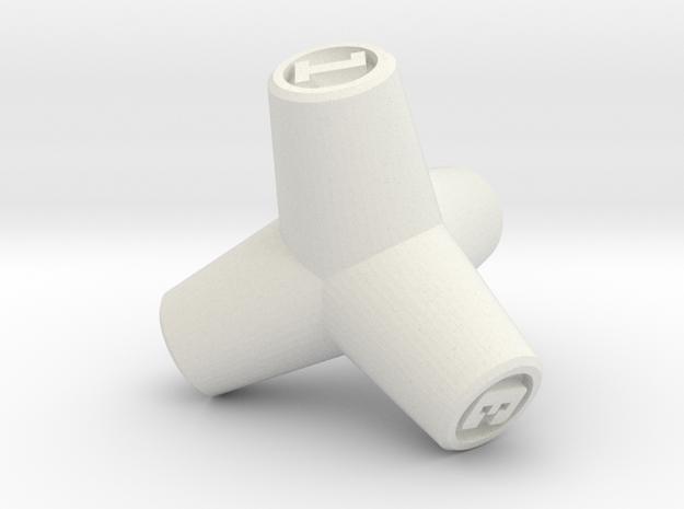 Tetrapod D4 in White Natural Versatile Plastic