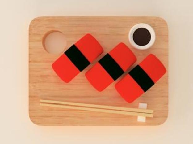 salmon sushi 3d printed food accessory