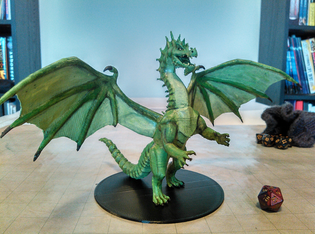 Ancient Green Dragon  in Green Strong & Flexible Polished