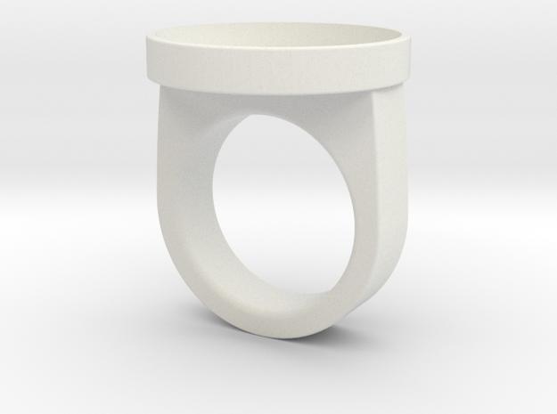 Custom ring 76 US 10 in White Natural Versatile Plastic