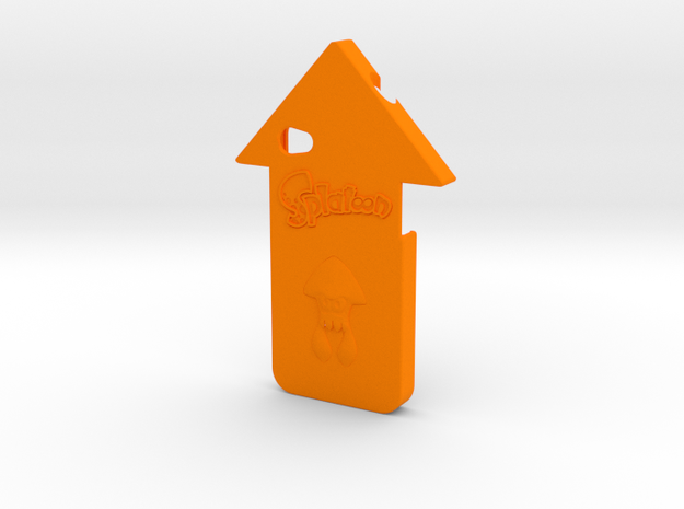 iPhone 4 Splatoon Squid Case in Orange Processed Versatile Plastic