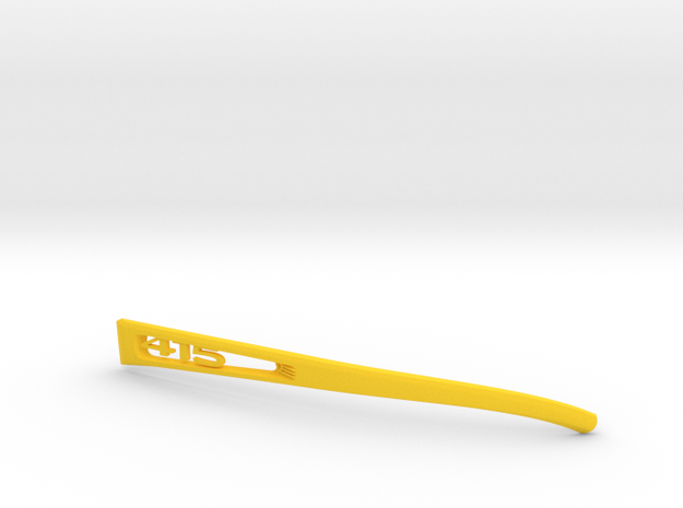 Vanderpool Vision Spec2&3_Left Temple_VER415_REV2 in Yellow Strong & Flexible Polished