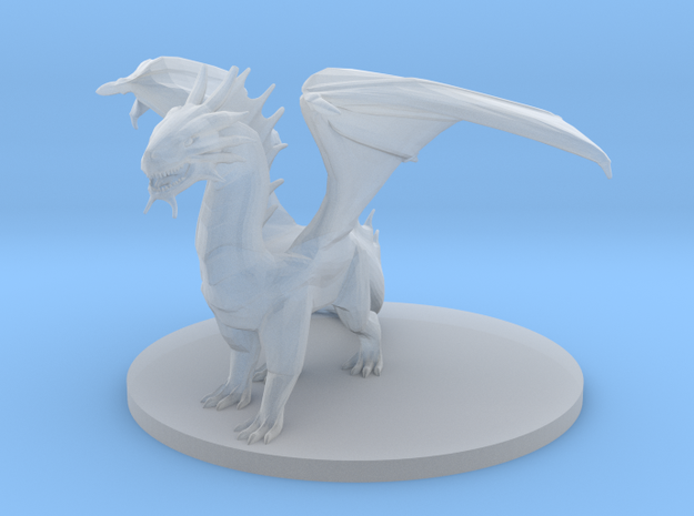 Young Bronze Dragon in Smooth Fine Detail Plastic
