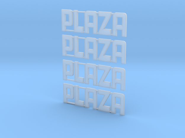 Plaza Theater Z scale in Smooth Fine Detail Plastic