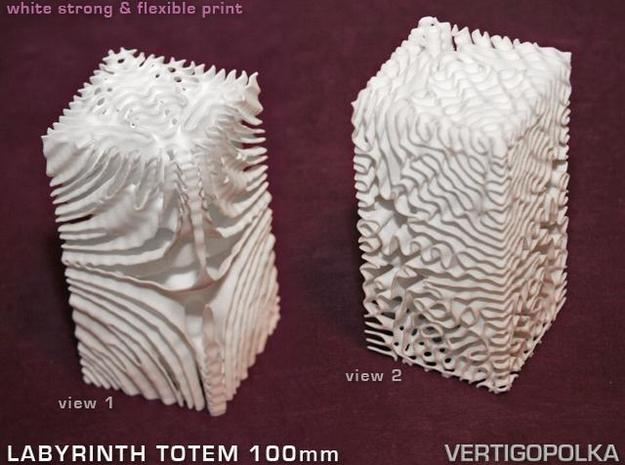 Labyrinth Totem 100mm in White Strong & Flexible
