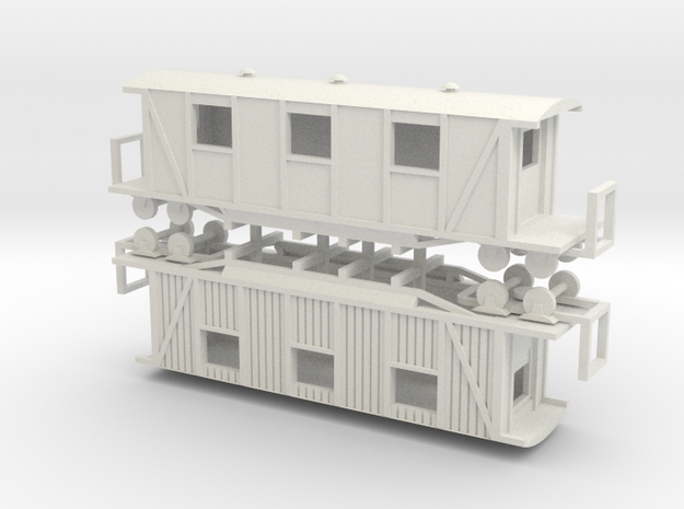 Sanitätswagen 144 006 (rep) in White Natural Versatile Plastic