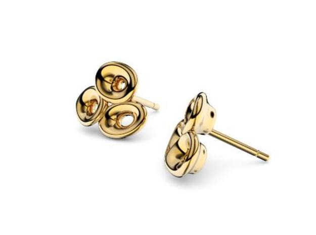 Mo-at Easy Love Earring in 18k Gold Plated Brass
