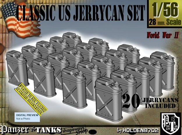 1/56 US Jerrycan x20 Set101 in Frosted Ultra Detail