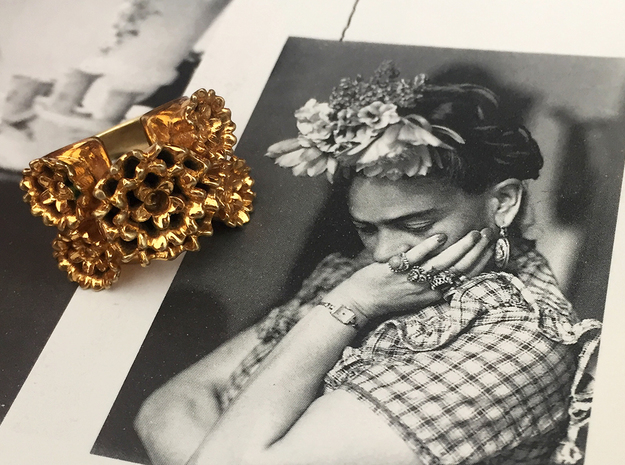 Frida Ring in 18k Gold Plated Brass: 7 / 54