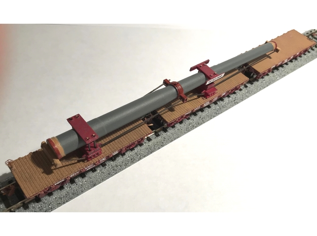 PRR F22 Flatcar 3-Pak - N in Smooth Fine Detail Plastic