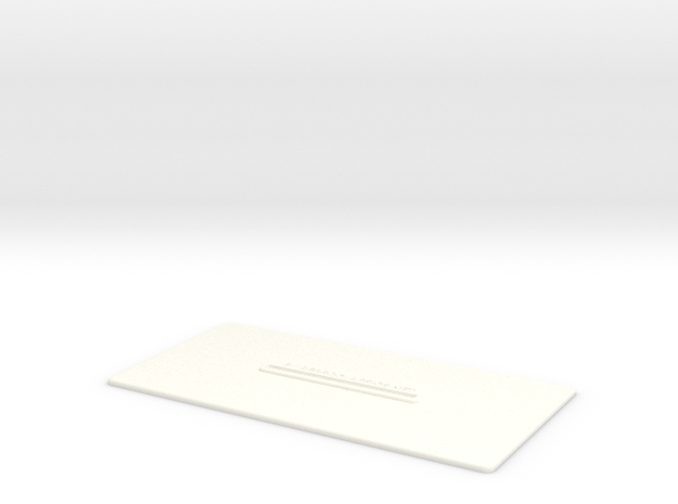Lancia Delta Document holder in White Processed Versatile Plastic
