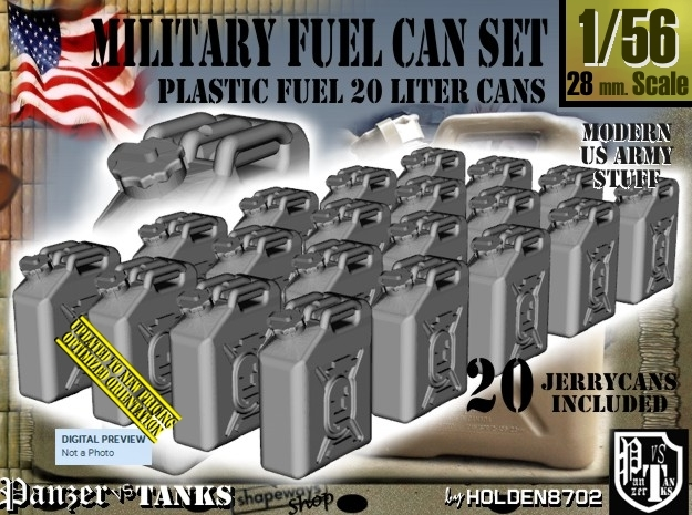 1/56 Military Fuel Can Set201 in Frosted Ultra Detail