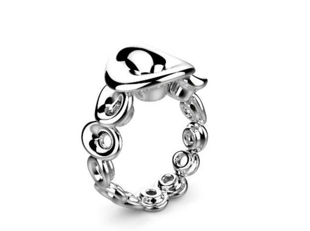 Ring Mo-At  Easy Avatar (From $12) in Polished Silver: 6 / 51.5