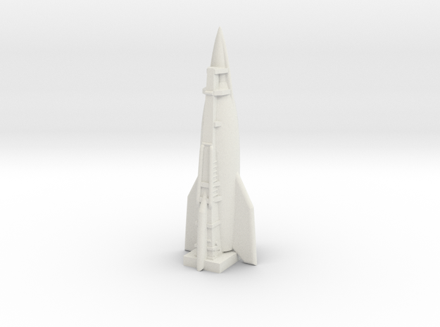 A-10 Rocket (Germany) ICBM in White Natural Versatile Plastic