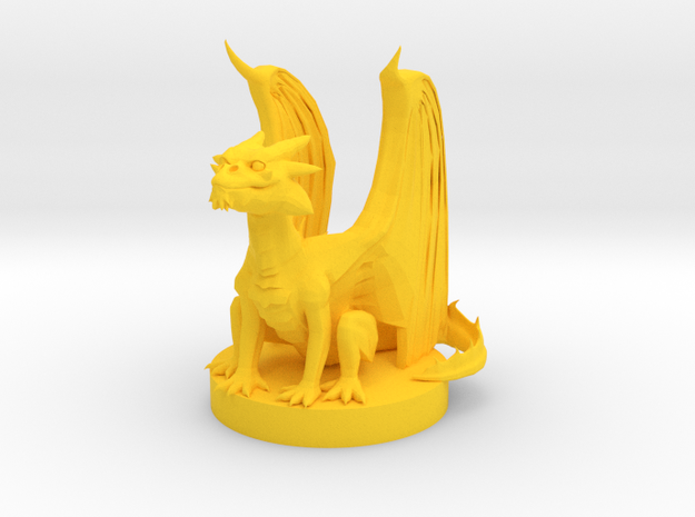 Gold Dragon Wyrmling in Yellow Processed Versatile Plastic