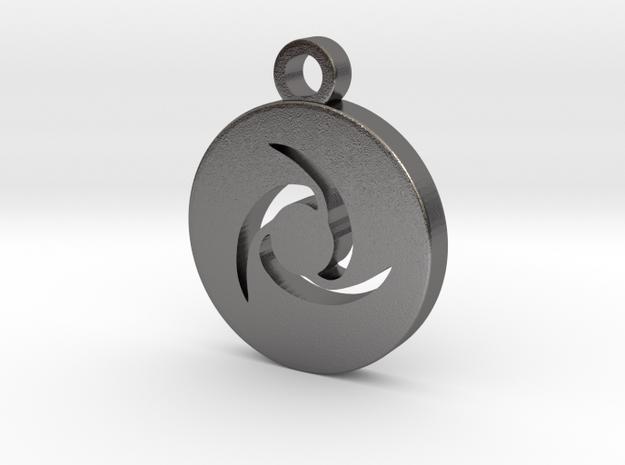 FFXIV Ninja (NIN) Pendant in Polished Nickel Steel