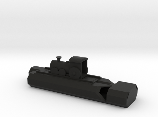 Train Track And Whistle in Black Natural Versatile Plastic