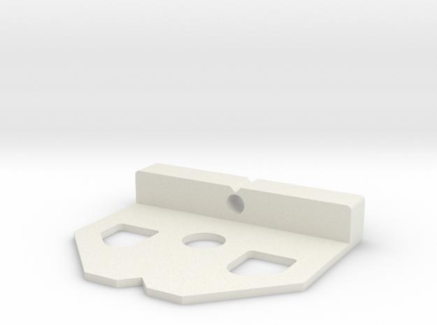 Cam Lock Gauge in White Natural Versatile Plastic
