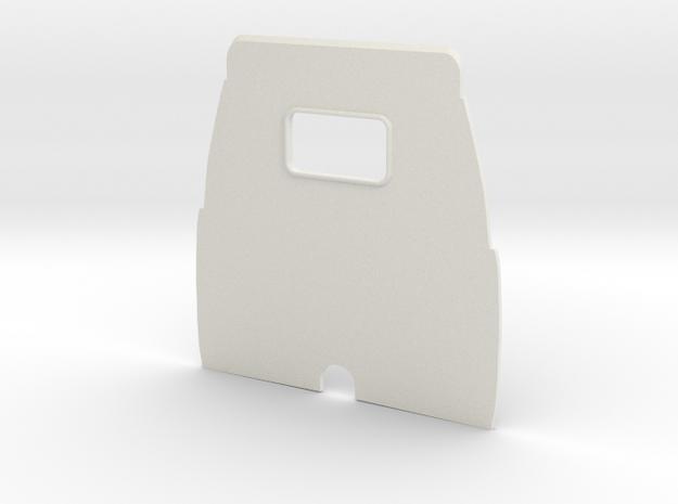 1/12 Airfix Austin A35 Top Bun Backwall in White Natural Versatile Plastic: Small