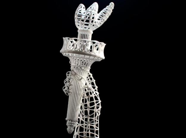Torch of Liberty in White Natural Versatile Plastic