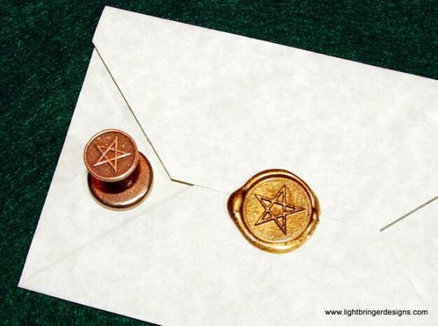 Pentagram Wax Seal 3d printed