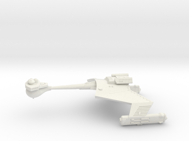 3788 Scale Romulan KRC Command Cruiser WEM in White Strong & Flexible
