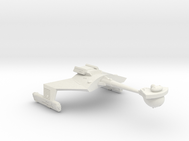 3788 Scale Romulan KRC Command Cruiser (Smooth) WE in White Strong & Flexible