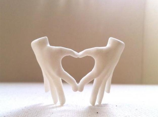 hand heart 3d printed