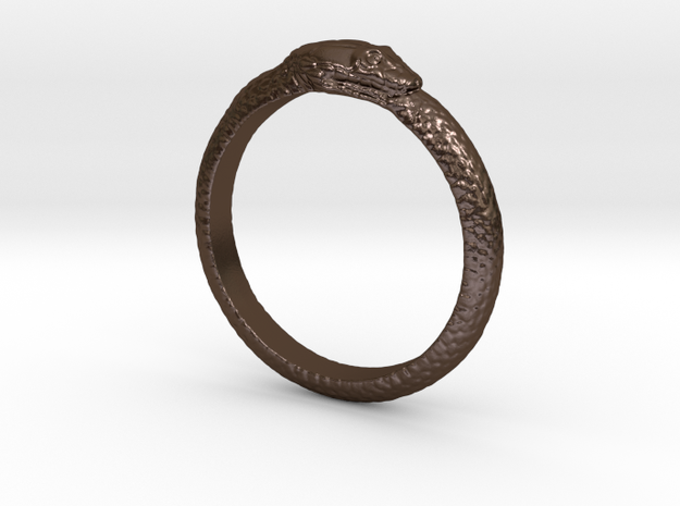 Snake ring in Polished Bronze Steel