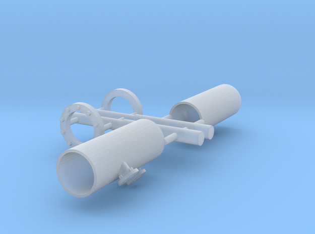 part2-firemonitor tubes-ASD2810-1:50 in Smooth Fine Detail Plastic