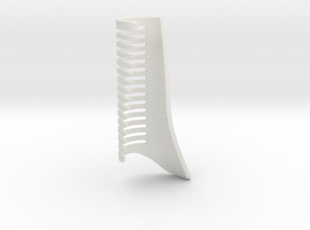 Unique Comb in White Natural Versatile Plastic