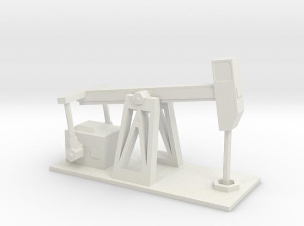 Derelict Oil Pump - Variation B in White Natural Versatile Plastic