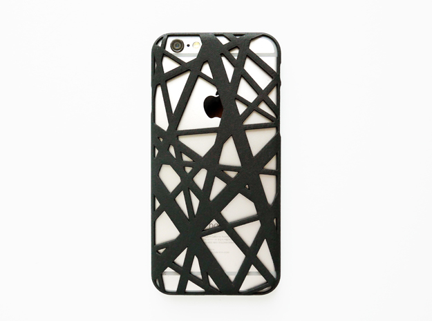 iPhone 6 / 6S Case_ Intersection in Black Natural Versatile Plastic