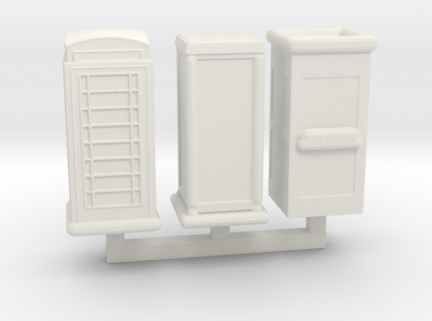 Telephone Booths Sprue  in White Natural Versatile Plastic