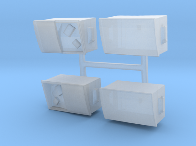 Alley Dumpsters Sprue  in Smooth Fine Detail Plastic