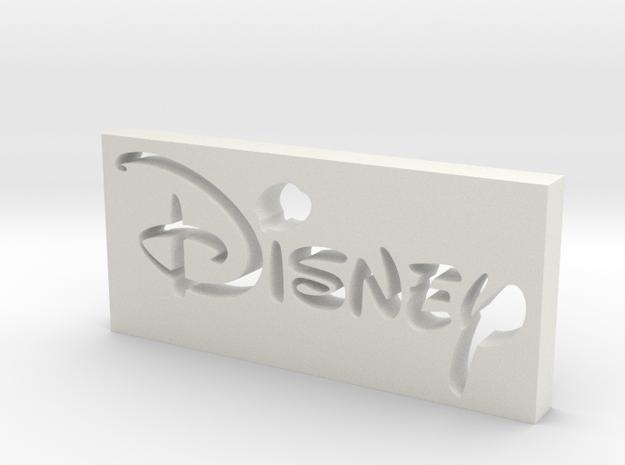 Disney Logo in White Natural Versatile Plastic