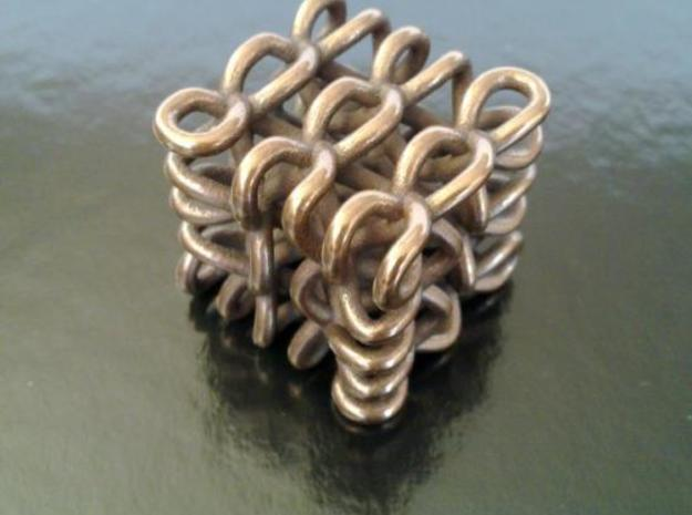 3D Celtic Knot, small, seed 2, thick, 1 shell 3d printed