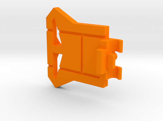 Starcom Shadow Blast Track Turret Control Panel in Orange Processed Versatile Plastic
