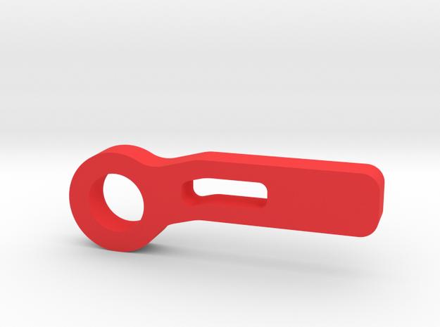 RC CAR Tow Hook in Red Processed Versatile Plastic