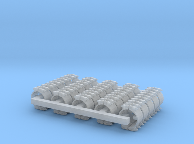 """Pipe Clamp for 1/4"""" tubing x 25 in Smooth Fine Detail Plastic"""