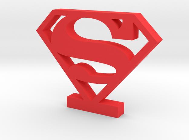 Superman Logo (Classic) in Red Processed Versatile Plastic