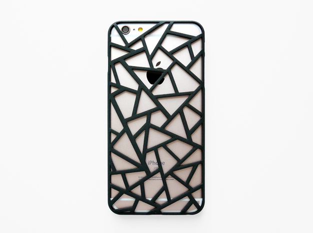 iPhone 6 plus / 6S plus Case_Triangles in Black Natural Versatile Plastic