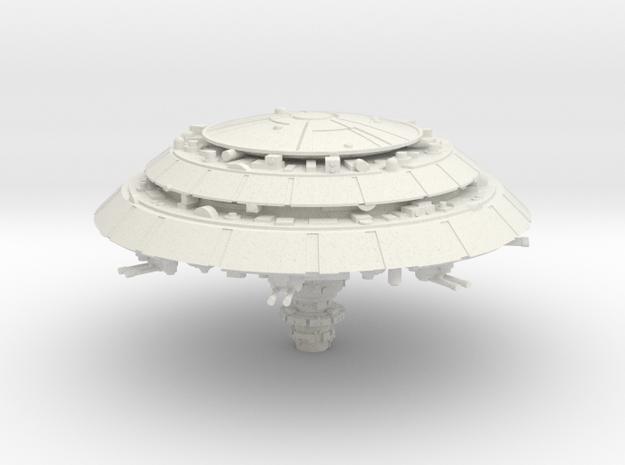 Orbital Facility in White Natural Versatile Plastic