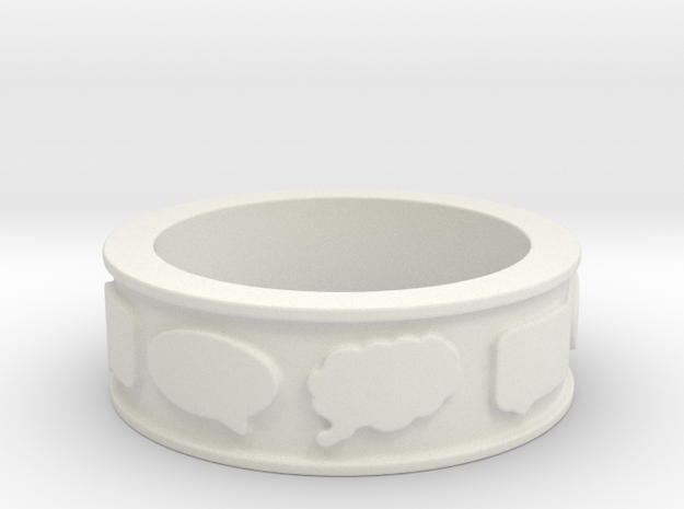 Chat Ring in White Strong & Flexible
