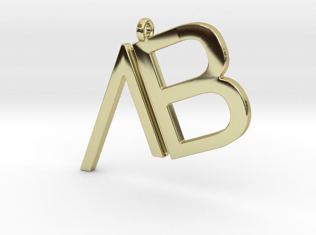 Custom Logo Pendant in 18k Gold Plated Brass