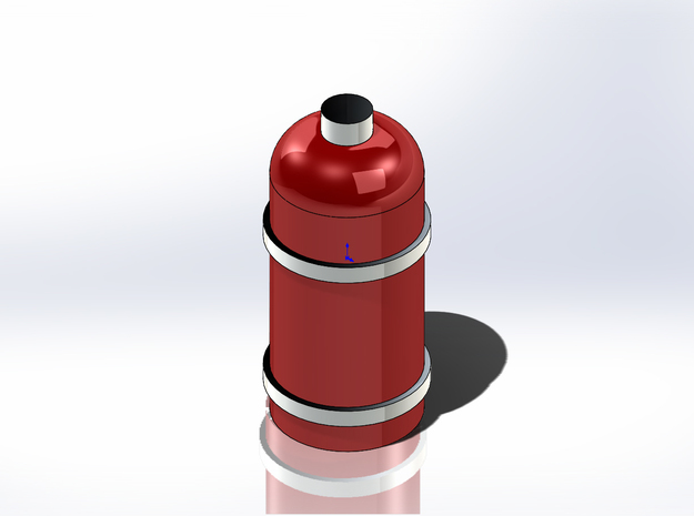 Fire Extinguisher in Smoothest Fine Detail Plastic: 1:24