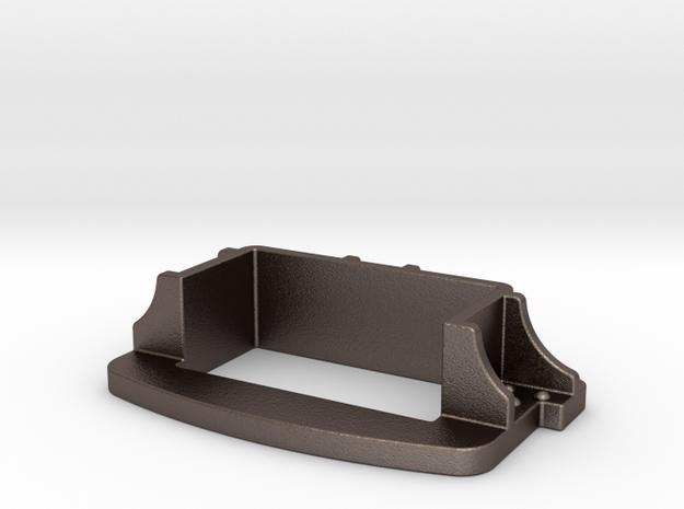 Brake Coupler Pocket in Polished Bronzed Silver Steel