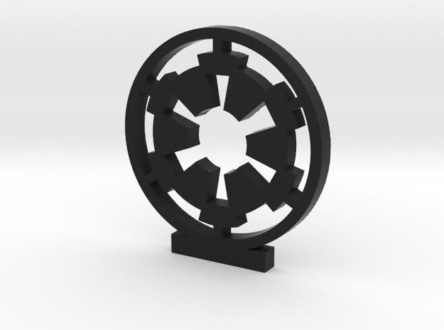 Galactic Empire Logo in Black Natural Versatile Plastic